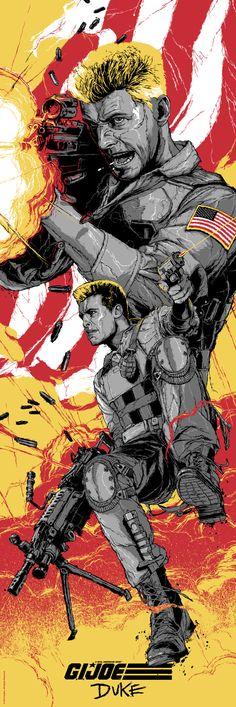 Cool G.I. JOE Art Featuring Snake Eyes, Cobra Commander, Storm Shadow, and Duke — GeekTyrant