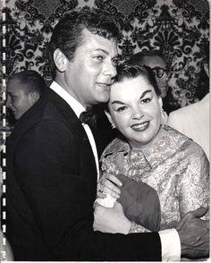 Judy Garland and Tony Curtis