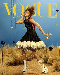 Vogue Magazine Covers, Fashion Magazine Cover, Vogue Covers, Fashion Cover, Zendaya Met Gala, Zendaya Style, Zendaya Model, Zendaya Outfits, Vogue Russia