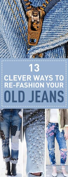 Whether you're a fan of skinny jeans or bootcut classic blue denim Outfits Jeans, Blue Jean Outfits, Jean Jacket Outfits, Denim Outfit, Clothing Hacks, Clothing Items, Upcycled Clothing, Low Cut Jeans, High Wasted Jeans