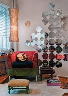 Superbela: Decoração Salão de Beleza  Espelhos da loja de 1,99 tirar a borda e colocar na parede. adorei