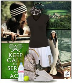Keep calm and serve an Ace with Lori's Golf Shoppe Tennis Collection! Only at lorisgolfshoppe.polyvore.com #Tennis #Fashion #Ootd #Lorisgolfshoppe