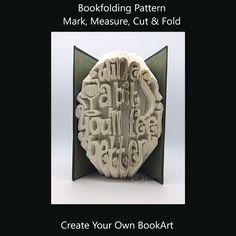 Cut and Fold Book Folding Pattern~Wine a bit