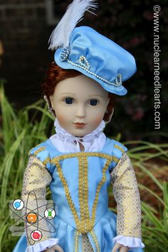 """American made Elizabethan gown ensemble for 16"""" A Girl for All Time by NuclearNeedleArts on Etsy"""