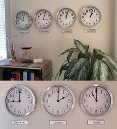 TIME ZONE CLOCK Pinterest Time zone clocks Clocks and