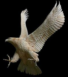 Amazing wood carved eagle sculpture