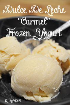 Make your own homemade frozen yogurt without needing an ice cream maker. Homemade Frozen Yogurt, Frozen Yogurt Recipes, Homemade Ice Cream, Frozen Desserts, Frozen Treats, Chocolate Frozen Yogurt, Ice Cream Desserts, Ice Cream Recipes, Frozen Yogurt
