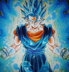 F**king insane art by @cat.destroyer ! Blue Vegito is such a beast