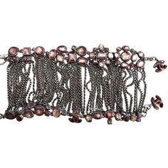 """Pre-owned Chanel 10c """" Paris-venice Antique Rose Glass Arm Bracelet (€675) ❤ liked on Polyvore featuring jewelry, bracelets, accessories, antique rose, glass bangles, chanel, antique bangle, glass jewelry and rose bangle"""
