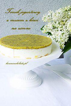 Jogurtowy torcik z musem z kiwi Kiwi, Cake, Pie Cake, Pie, Cakes, Cookie