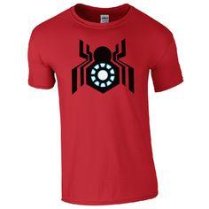 >> Click to Buy << Spider-Man Iron Man Arc Reactor T-Shirt - Civil War Inspired Kids & Men Fan Top Print T Shirt Man Short Sleeve T shirt #Affiliate