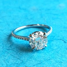 There is only one happiness in life: to love and be loved. #shapirodiamonds #diamondring #diamonds #engagementring #dallas #jeweler #finejewelry