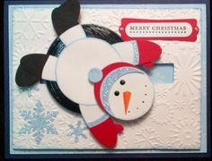 Craftiepants 123...: Penny Roller/Punch Art Snowman Card