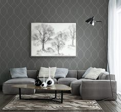 The wallpaper designs in Essence have been inspired by nature. The created texture in the designs add depth to the walls and the sophisticated and mature colour palette with touches of metallic complete the look, providing a perfect backdrop for a well edited living space.Essence is available in the UK and Ireland exclusively through Today Interiors.