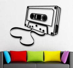 Wall Stickers Vinyl Decal Musicassette Musiс Retro Vintage Decor