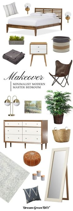 A Minimalist Modern Master Bedroom Mood Board