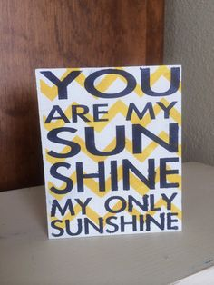 You are my Sunshine sunshine wooden sign by CharlieBsDesigns, $12.00