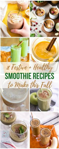 Get in the seasonal & holiday spirit this fall with these healthy breakfast smoothie recipes!Replace sugar & flour laden sweets with these healthier treats