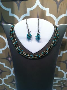 """St. Tropez"" necklace and earrings"