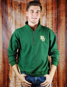 It can be freezing during late fall/early winter #Baylor games. This pullover is perfect, and won't hide your green and gold pride!