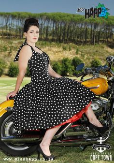 newest 96456 5b54c Rockabilly Pinup dress in black spot by MissHapp on Etsy,  85.00 Pin Up  Outfits,