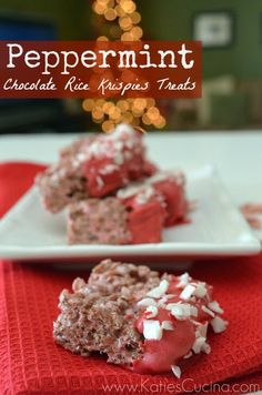 Peppermint Chocolate Rice Krispies Treats