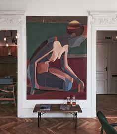 Finn Juhl showroom by for Copenhagen. Artwork by Lars Tygesen Magazine Kinfolk, Painting Inspiration, Art Inspo, Modern Art, Contemporary Art, Leaf Art, Large Art, Decoration, Design Art