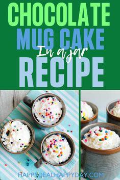Chocolate Mug Cake Mix in a Jar Recipe! 3 tbsp cake mix, 2 tbsp water, 1 min. in the microwave - ridiculously easy! #mugcake #chocolatemugcake #mugcakerecipe #mugcakemixinajar, #masonjargift #easycakemix #masonjarrecipe Cake Mix In A Jar Recipe, Cake In A Jar, Some Recipe, Autumn Recipes Vegetarian, Fall Recipes, Summer Recipes, Lab Created Diamond Rings, Lab Created Diamonds, Mason Jar Meals