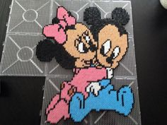 Mickey and Minnie Mouse hama perler beads by Malue Lindgreen