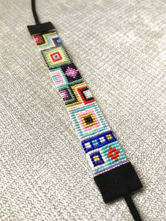 Excited to share this item from my shop: Miyuki Bead Bracelet, with a black suede ending / Beaded Bracelet / Miyuki Beads / Miyuki Bead Bracelet / Boho Style / Miyuki Delica Bead Loom Patterns, Beaded Jewelry Patterns, Bracelet Patterns, Beading Patterns, Bracelets Fins, Bead Loom Bracelets, Jewelry Bracelets, Miyuki Beads, Boho Stil