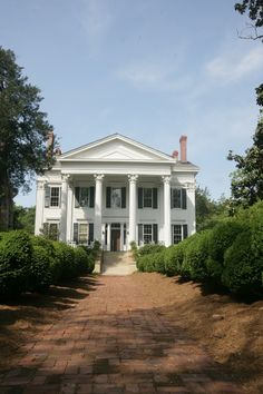 Big house with white columns!!!