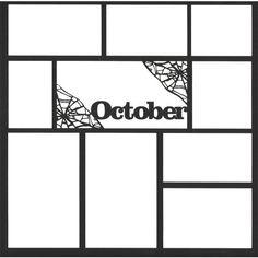 October 12 x 12 Overlay Laser Die Cut (¥355) found on Polyvore