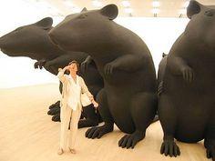 large rat sculptures