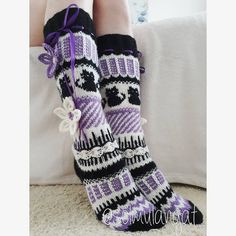 Thick Socks, Wool Socks, Leg Warmers, Legs, Knitting, Fashion, Moda, Woolen Socks, Tricot