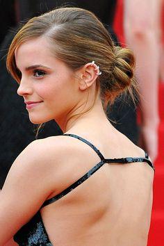 Emma Watson hair style file: hair bun updo