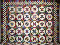 King Multicolor Sky Dancer Quilt  Amish Country Quilts