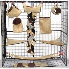 Brown Tie Dye *15 PC Sugar Glider Cage set *Rat * double layer Fleece in Pet Supplies, Small Animal Supplies, Cages & Enclosure | eBay