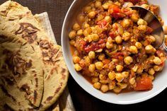 This chole masala recipe is filled with spicy serrano chiles and chickpeas topped with sweet pomegranate molasses.
