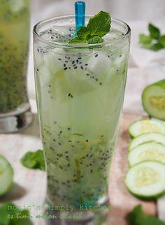 * €s timun melon selasih * Healthy Juice Drinks, Healthy Fruit Desserts, Fruit Juice Recipes, Yummy Drinks, Yummy Food, Dessert Drinks, Drink Recipes, Dessert Recipes, Food N