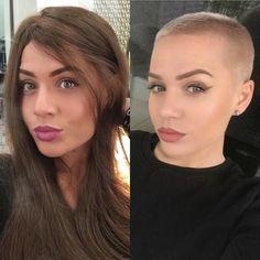 Long hair vs. short hair #hairdare #cutitoff #buzzcutgirl