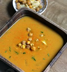 Sweet Potato Soup + Chickpea Croutons and Parsnip Chips - Peaceful ...