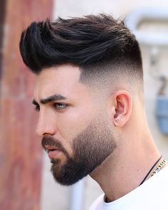 Trending haircuts for men in 2020 Mens Hairstyles Fade, Cool Hairstyles For Men, Undercut Hairstyles, Haircuts For Men, Hipster Hairstyles, Beard Haircut, Fade Haircut, Short Haircut, Hair And Beard Styles