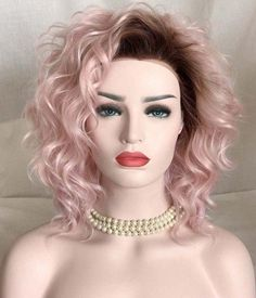 Strawberry Dream Synthetic Lace Front Wig FashionLoveHunter - May 04 2019 at Natural Looking Wigs, Natural Wigs, Synthetic Lace Front Wigs, Synthetic Wigs, 12 Inch Hair, Light Pink Hair, Long Hair Wigs, Blond Ombre, Colored Wigs