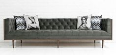 Koenig Sofa in Bella Pewter Velvet by ModShop