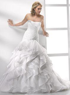 Sottero and Midgley: Elaine | Wedding Dress | Drop waist waistline | Ruffled Skirt