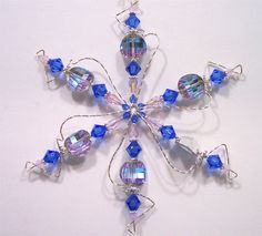 Vintage Sapphire Crystal Snowflake - Art Jewelry Magazine - Jewelry Projects and Videos on Metalsmithing, Wirework, Metal Clay