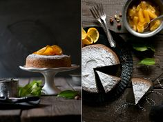 Perfect for fall: a moist and dense Chestnut Cake with Hazelnuts and Oranges (in German).