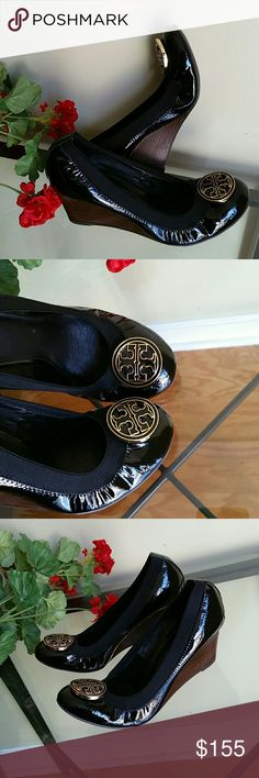 Tory Burch caroline wedges Very good condition light signs of wear to the sole Tory Burch Shoes