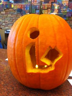 """The Library Pumpkin"" Courtesy of the Quisenberry Library. Clinton, MS (posted by kcorbett) Jackson-Hinds Library System!"