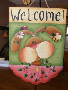 Cute welcome sign: )